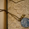 brass necklace blue deer scene 1 pm