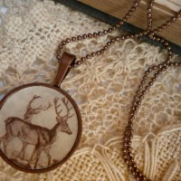 Vintage necklace deer