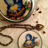 Vintage charm necklace and trinket box