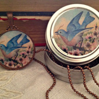 Vintage Bluebird Necklace