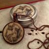 Vintage pendant necklace and trinket box